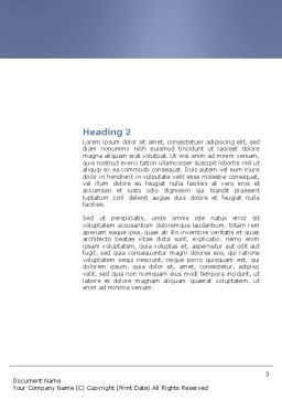 Communication Network Word Template, Second Inner Page, 04058, Telecommunication — PoweredTemplate.com