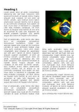 Face Of Brazil Word Template First Inner Page