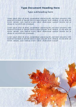 Late Autumn Word Template Cover Page