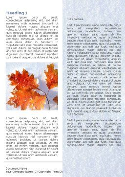 Late Autumn Word Template First Inner Page