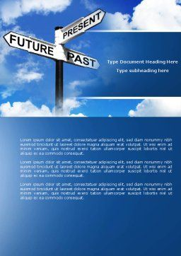 Future Past Word Template, Cover Page, 04063, Business Concepts — PoweredTemplate.com