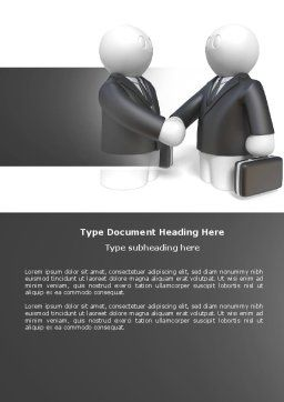 Contractual Agreement Word Template, Cover Page, 04069, Consulting — PoweredTemplate.com