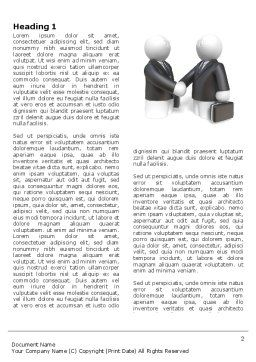 Contractual Agreement Word Template, First Inner Page, 04069, Consulting — PoweredTemplate.com
