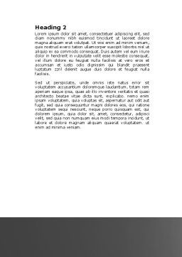 Contractual Agreement Word Template, Second Inner Page, 04069, Consulting — PoweredTemplate.com