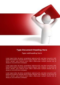 Shelter Word Template, Cover Page, 04072, Consulting — PoweredTemplate.com