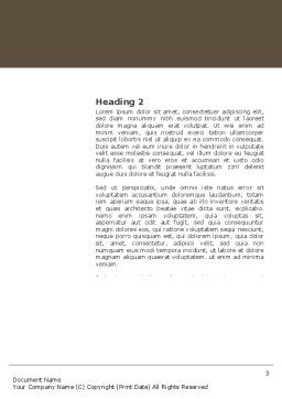Tea Ceremony Word Template Second Inner Page