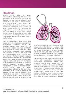 Human Lungs Word Template, First Inner Page, 04078, Medical — PoweredTemplate.com
