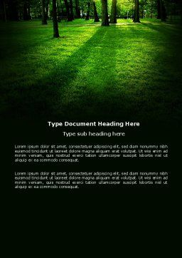 Woods Word Template, Cover Page, 04082, Nature & Environment — PoweredTemplate.com