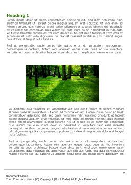 Woods Word Template, First Inner Page, 04082, Nature & Environment — PoweredTemplate.com