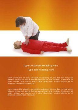 Cardiac Massage Word Template, Cover Page, 04089, Medical — PoweredTemplate.com