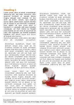 Cardiac Massage Word Template, First Inner Page, 04089, Medical — PoweredTemplate.com