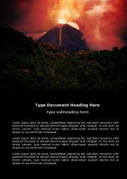 Eruption Word Template, Cover Page, 04094, Nature & Environment — PoweredTemplate.com
