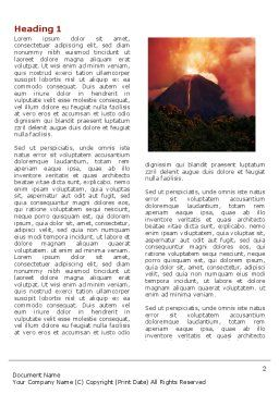 Eruption Word Template, First Inner Page, 04094, Nature & Environment — PoweredTemplate.com