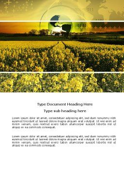 Modern Agriculture Word Template, Cover Page, 04097, Nature & Environment — PoweredTemplate.com