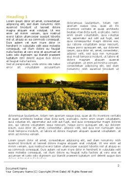 Modern Agriculture Word Template, First Inner Page, 04097, Nature & Environment — PoweredTemplate.com