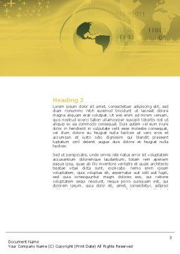 Modern Agriculture Word Template Second Inner Page