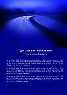 Blue Twilight Movement Word Template, Cover Page, 04102, Consulting — PoweredTemplate.com