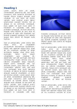 Blue Twilight Movement Word Template, First Inner Page, 04102, Consulting — PoweredTemplate.com