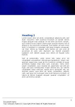Blue Twilight Movement Word Template, Second Inner Page, 04102, Consulting — PoweredTemplate.com
