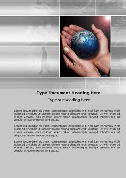 Global Business World Word Template, Cover Page, 04105, Global — PoweredTemplate.com