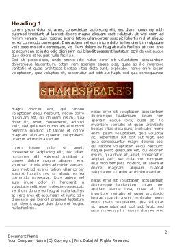 Shakespeare Word Template, First Inner Page, 04106, Education & Training — PoweredTemplate.com