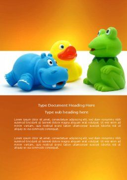 Stuffed Toys Word Template, Cover Page, 04109, Education & Training — PoweredTemplate.com