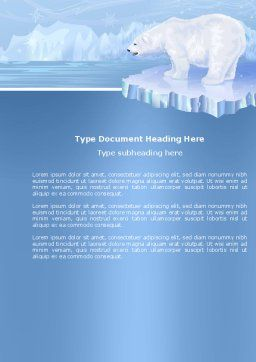 Sea Bear Word Template, Cover Page, 04111, Agriculture and Animals — PoweredTemplate.com