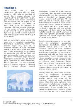 Sea Bear Word Template, First Inner Page, 04111, Agriculture and Animals — PoweredTemplate.com