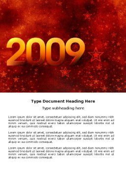 2009 celeb yr Word Template, Cover Page, 04115, Holiday/Special Occasion — PoweredTemplate.com