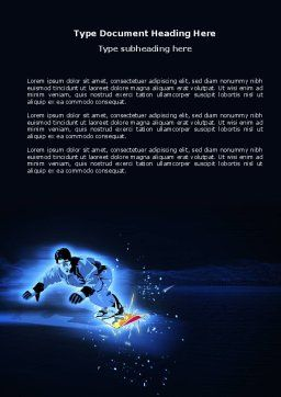 Snowboarding In A Dark Blue Background Word Template, Cover Page, 04118, Sports — PoweredTemplate.com