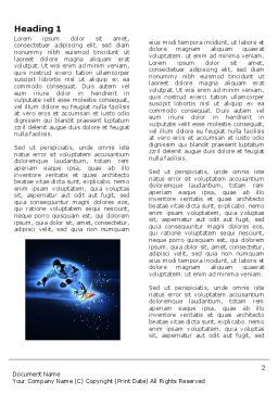 Snowboarding In A Dark Blue Background Word Template, First Inner Page, 04118, Sports — PoweredTemplate.com
