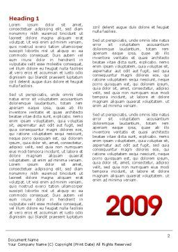 2009 yr Word Template, First Inner Page, 04122, Holiday/Special Occasion — PoweredTemplate.com