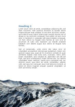 Snowy Mountains Word Template, Second Inner Page, 04123, Nature & Environment — PoweredTemplate.com