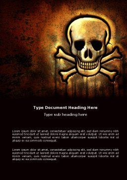 Pirate Sign Word Template, Cover Page, 04124, Military — PoweredTemplate.com