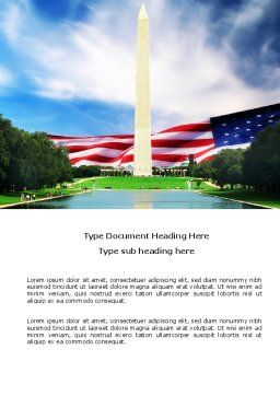 Washington Monument Word Template, Cover Page, 04126, America — PoweredTemplate.com