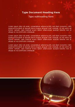 Fortune-telling Word Template, Cover Page, 04128, Holiday/Special Occasion — PoweredTemplate.com