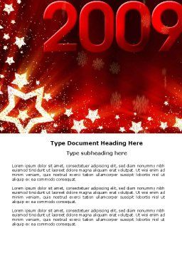 2009 yr with Star Word Template, Cover Page, 04130, Holiday/Special Occasion — PoweredTemplate.com