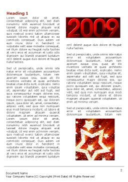 2009 yr with Star Word Template, First Inner Page, 04130, Holiday/Special Occasion — PoweredTemplate.com