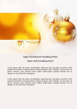 Free Christmas Decorations Word Template, Cover Page, 04134, Holiday/Special Occasion — PoweredTemplate.com
