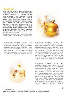 Free Christmas Decorations Word Template, First Inner Page, 04134, Holiday/Special Occasion — PoweredTemplate.com