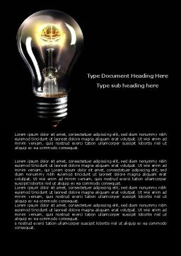 Electric Light Word Template, Cover Page, 04138, Business Concepts — PoweredTemplate.com