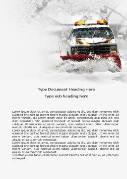 Snowdrift Word Template, Cover Page, 04146, Nature & Environment — PoweredTemplate.com