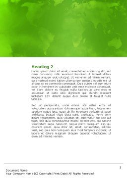 Green District Word Template, Second Inner Page, 04147, Construction — PoweredTemplate.com