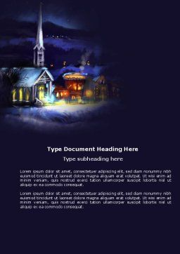 Free Christmas Evening Word Template, Cover Page, 04148, Holiday/Special Occasion — PoweredTemplate.com