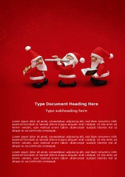 Little Santa Clauses Word Template, Cover Page, 04153, Holiday/Special Occasion — PoweredTemplate.com