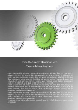 Pinion Transmission With Lead Gear Word Template, Cover Page, 04154, Business Concepts — PoweredTemplate.com