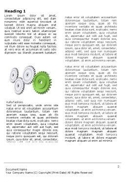 Pinion Transmission With Lead Gear Word Template, First Inner Page, 04154, Business Concepts — PoweredTemplate.com