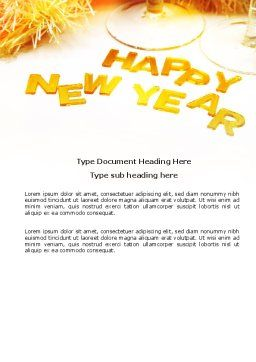 New Year Party Free Word Template, Cover Page, 04156, Holiday/Special Occasion — PoweredTemplate.com