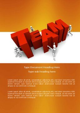 Team Efforts Word Template, Cover Page, 04158, Consulting — PoweredTemplate.com