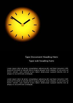 Time X Word Template, Cover Page, 04159, Business Concepts — PoweredTemplate.com
